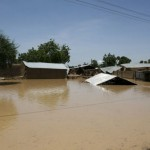 Damage done by flood in the Northern part of the country