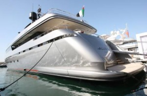 Super yachts on display at dubai international boat show for Mercedes benz yacht cost