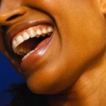 Profile of Woman Laughing