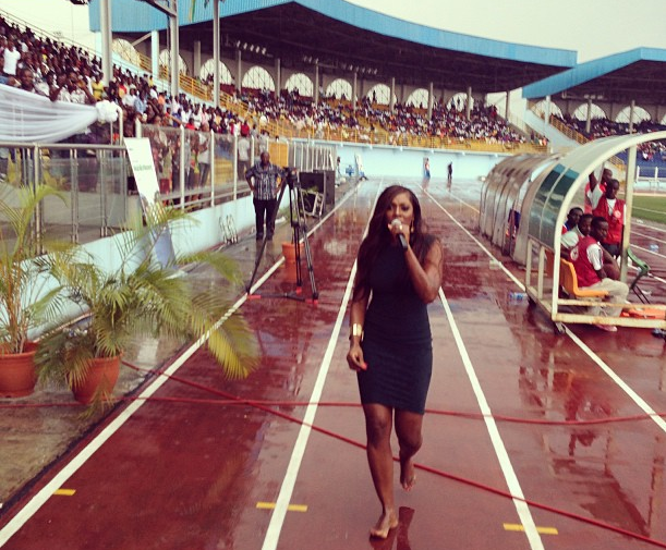 Image result for tiwa savage performing without shoes