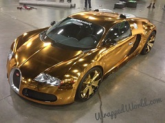 Check Out This Bugatti Veyron Made Of Gold - INFORMATION NIGERIA