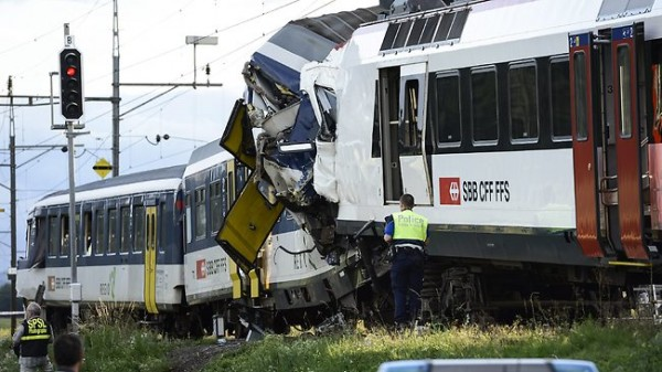 PHOTOS: 2 Swiss Trains Collide, Dozens Injured - INFORMATION NIGERIA