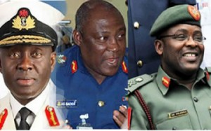 President Jonathan Commends Security Chiefs, Urges Them To Defend Nigeria