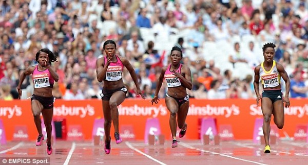 Baptiste (right) Finished Third at the Anniversary Games in July.