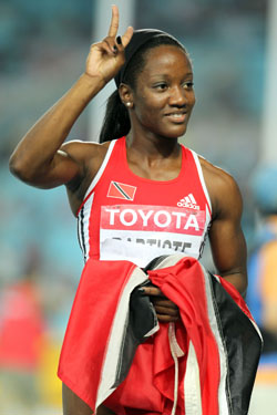 Kelly Ann-Baptiste After Winning the 100m in Daegu in 2011.