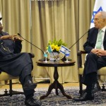 PRESIDENT GOODLUCK JONATHAN (L), WITH PRESIDENT SHIMON PERES OF ISRAEL, DURING A BILATERAL MEETING IN JERUSALEM ON MONDAY
