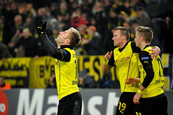 Getty Image: Dortmund Moved into Second Position after Tuesday's Victory Over a Below-Par Napoli Ahead of the Last Round of Matches.