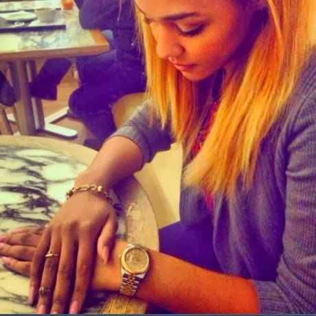 SEE Wizkid's Girlfriend, Tania Omotayo's Rolex Piece