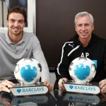 Pardew and Krul Displays their November Barclays Awards.