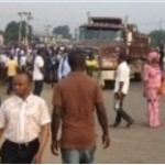 BREAKING NEWS: Massive Protest By Ogoni People In Port Harcourt, Roads Blocked [PHOTO]
