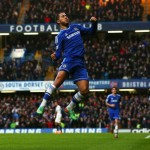 Eden Hazard Celebrates His match Winner Against Swansea. Getty Image.