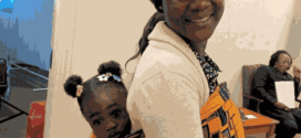 Mercy Johnson Goes African Style With Baby Purity