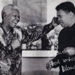 Mohammed Ali with Mandela