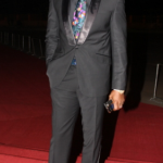Chidi Mokeme steps out in floral tie and matching shoes