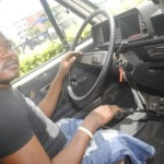 INSPIRING: Meet Lagos Danfo Driver Who Lost Both of His Legs in a Road Accident, But Continues His Job (PHOTO)