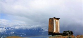 See Extreme Toilet Perched on a Cliff in Siberia