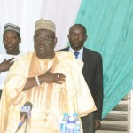 FROM LEFT: GOV. MUKHTAR YERO OF KADUNA STATE; GOV. BABANGIDA ALIYU OF NIGER AND DEPUTY GOVERNOR OF KATSINA STATE, ALHAJI ABDULLAHI FASKERE, AT THE NORTHERN GOVERNORS FORUM  MEETING IN KADUNA LAST WEEK MONDAY (17/2/14).