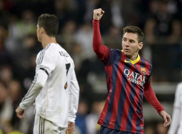 Lionel Messi's Second Goal on Sunday Night Made HIm the Second Highest La Liga Goal Scorer. AFP.
