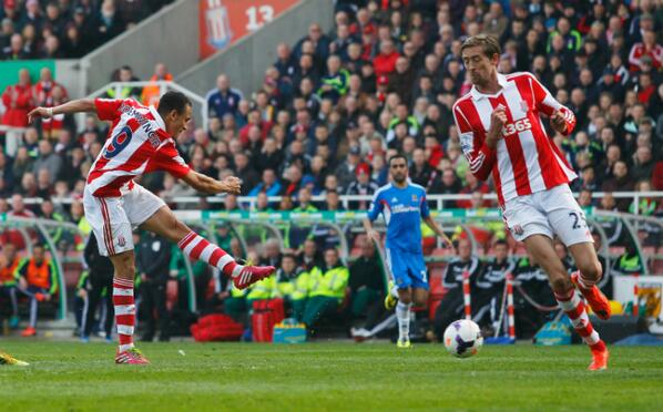 Odemwingie Scores His Sixth Barclays Premier League Goal Against Hull City.