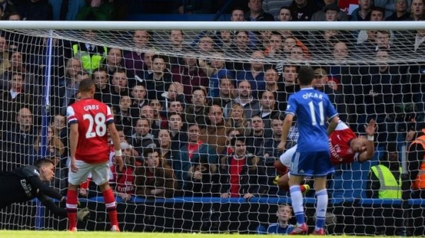 Oscar Scores Chelsea's Fourth Against Arsenal. Getty Image.