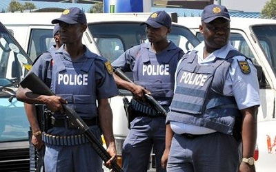 south african policemen caught on video assaulting
