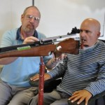 Marksman Paralyzed from the Neck Down Fires a Rifle with His Tongue