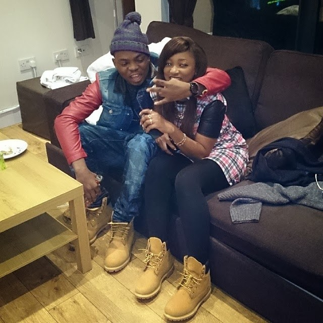 Olamide And Girlfriend Pose In Matching Timberland Boot