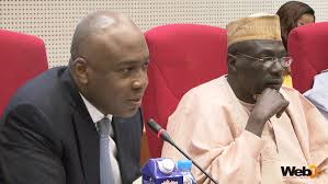 SENATOR BUKOLA SARAKI MEMBER SENATE COMMITTEE ON FINANCE AND CHAIRMAN SENATOR AHMED MAKARFI AT THE PUBLIC HEARING ON THE NNPC $49.8BN UNREMITTED FUNDS