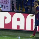 Dani Alves Bites Banana Thrown at Him During Barcelona's 3-2 Win Over Villareal.