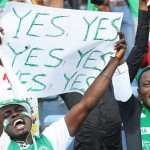 Super Eagles Supporters During A World Cup Qualifier in Calabar.