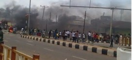 Photos: Riot in Ondo State against the government