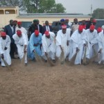 GOVERNOR RABI'U MUSA KWANKWASO & STATE GOVERNMENT OFFICIALS SWEEPING THE VENUE USED FOR THE PDP RALLY IN KANO