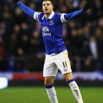 Mirallas Celebrates His Goal Against Norwich.