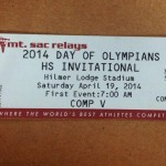 The 2014 Mt. Sac Relay Tagged 'The Meet Where the World Best Compete' is Slated for This Weekend In California.