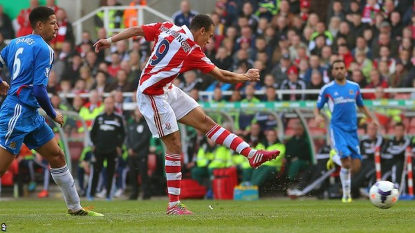 Stoke City Forward Odemwingie Had Earlier Donated Football Equipments to the Club in February.