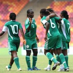 The Nigeria Super Falcons During a Friendly Match at the Abuja National Stadium.