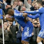 Eto'O Mimics a Tired Old Man During One of His Goal Celebrations Last Season.