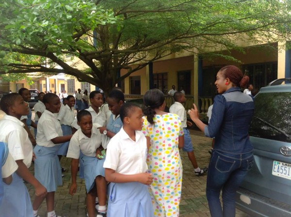 chika ike school1 600x448 Chika Ike Visits Her School On Children's Day