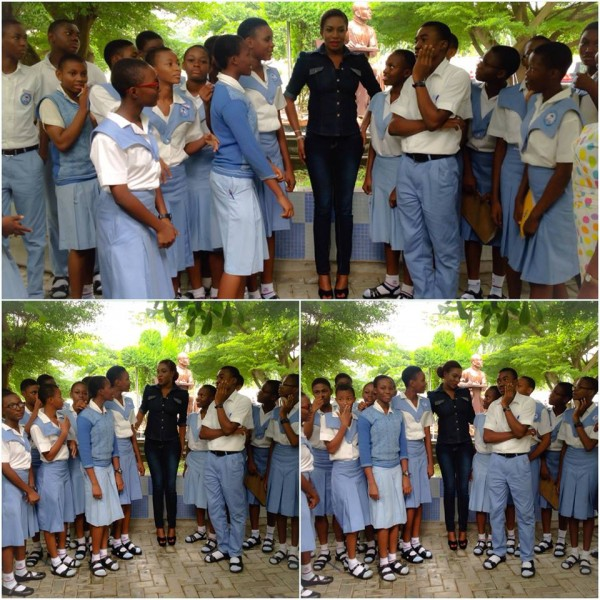 chika ike school3 600x600 Chika Ike Visits Her School On Children's Day