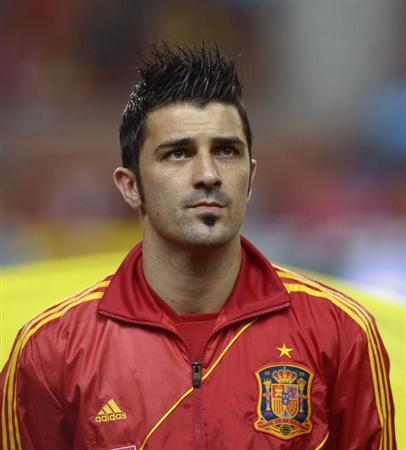 David Villa Honours the Spanish National Anthem Before A 2014 WOrld    David Villa 2014 World Cup