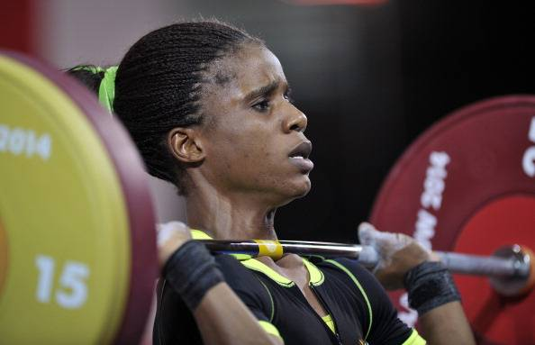 Chika Amalaha Won Gold in the 53kg Weightlifting Category. Image: Getty Image.