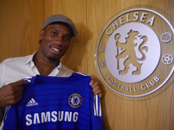 Ddidier Drogba Returns To Chelsea Two Years After His Sad Exit. Image: Chelsea FC.
