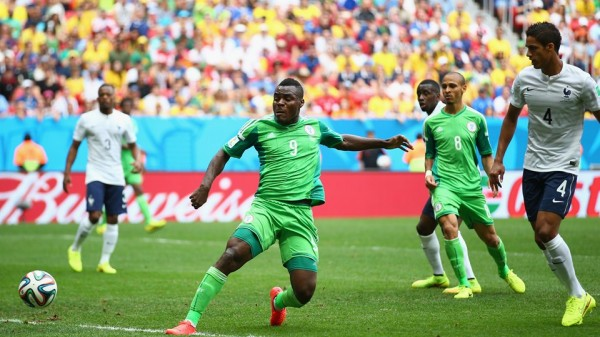 Emmanuel Emenike's Only Goal Against France at the Fifa World Cup Was Ruled for Offside. Fifa via Getty Image.