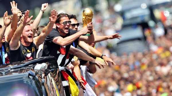 Germany Arrives Berlin to a Sea of Hundreds of Thousands Fans Gathered for the Victory Parade. Image: AFP.
