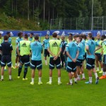 Jose Mourinho Addresses Chelsea Team Before Tuesday's Session.
