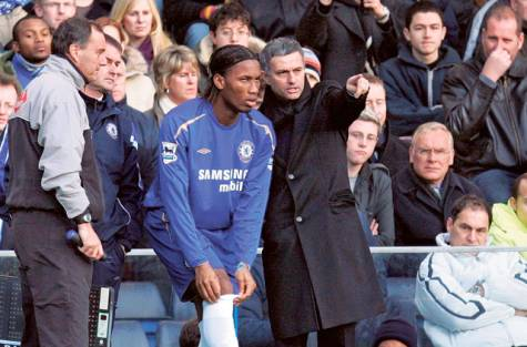 Jose Mourinho Coaches Drogba From 2004 to 2007 at Chelsea.