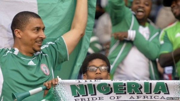 Super Eagles Supporters During One of the Country's Matches.