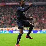 Patrice Evra Celebrates His Goal Against Bayern Munich Last Season.