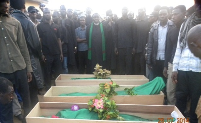 Members of the Shiite Sect in Zaria burying their dead