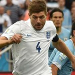 Steven Gerrard During a World Cup 2014 Match Against Uruguay. Image: Getty Image.